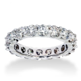 14k White Gold 4ct TDW Diamond Eternity Anniversary Ring (I-J, I2-I3)