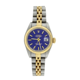 Pre-owned Rolex Women's 79173 Datejust 18k Yellow Gold and Stainless Steel Watch