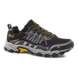 Men's Fila At Tractile Trail Shoe Black/Castlerock/Gold Flash