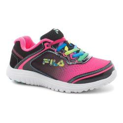 Girls' Fila Aurora Training Shoe Knockout Pink/Black/White