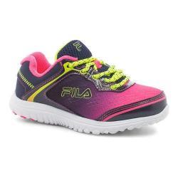 Girls' Fila Aurora Training Shoe Knockout Pink/Fila Navy/Safety Yellow