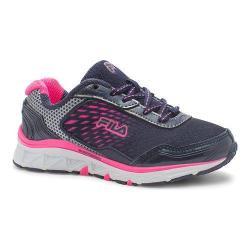 Girls' Fila Energistic Running Shoe Fila Navy/Dark Silver/Knockout Pink
