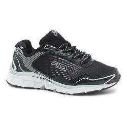 Boys' Fila Energistic Running Shoe Black/Black/Metallic Silver