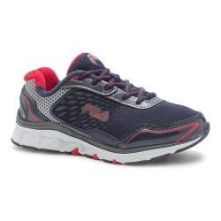 Boys' Fila Energistic Running Shoe Fila Navy/Pewter/Dark Silver