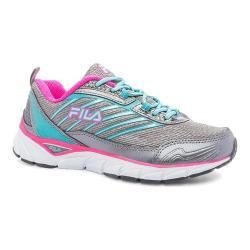 Women's Fila Fila Forward Running Shoe Dark Silver/Baltic/Pink Glo
