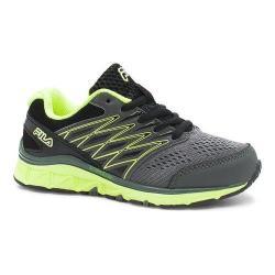Children's Fila Gallactic Training Shoe Castlerock/Black/Safety Yellow