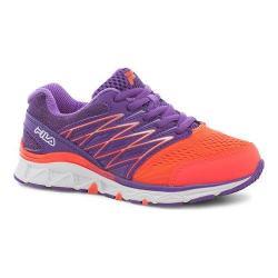 Children's Fila Gallactic Training Shoe Fiery Coral/Electric Purple/White