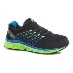 Boys' Fila Gallactic Training Shoe Black/Electric Blue Lemonade/Green Gecko