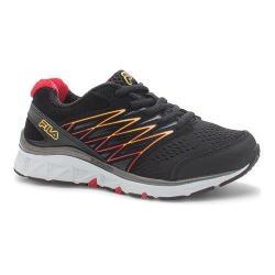 Boys' Fila Gallactic Training Shoe Black/Fila Red/Safety Yellow