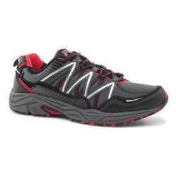 Men's Fila Headway 6 Trail Shoe Castlerock/Black/Fila Red