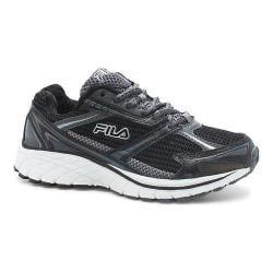 Children's Fila Nitro Fuel Running Shoe Black/Castlerock/Metallic Silver
