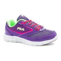 Children's Fila Proze Running Shoe Electric Purple/Pink Glow/Green Gecko