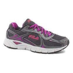 Women's Fila Quadrix Running Shoe Dark Shadow/Dark Silver/Purple Cactus Flower