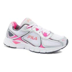 Women's Fila Quadrix Running Shoe White/Metallic Silver/Knockout Pink