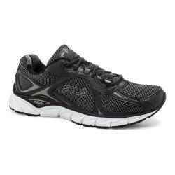Men's Fila Quadrix Running Shoe Black/Black/Metallic Silver