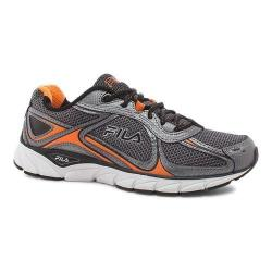 Men's Fila Quadrix Running Shoe Castlerock/Dark Silver/Vibrant Orange