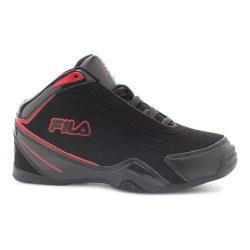 Boys' Fila Slam 12C Basketball Shoe Black/Black/Fila Red