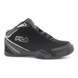 Boys' Fila Slam 12C Basketball Shoe Black/Black/Metallic Silver