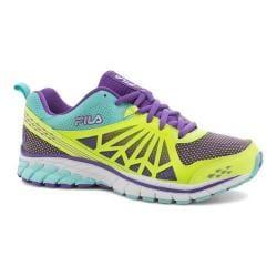 Women's Fila Steelstrike Energized Running Shoe Safety Yellow/Electric Purple/Aruba Blue