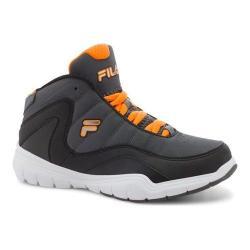 Boys' Fila Sweeper Basketball Shoe Castlerock/Black/Vibrant Orange