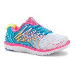 Girls' Fila Swept Training Shoe White/Atomic Blue/Knockout Pink