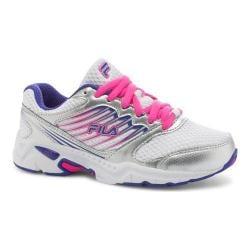 Girls' Fila Tempo 2 Running Shoe White/Royal Blue/Pink Glow
