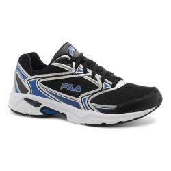 Men's Fila Xtent 2 Running Shoe Black/Prince Blue/Metallic Silver