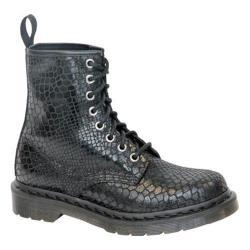 Women's Dr. Martens 1460 8-Eye Boot Black Hi Shine Snake