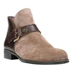 Women's Naturalizer Jarrett Ankle Boot Taupe Oiled Suede/Brown Leather