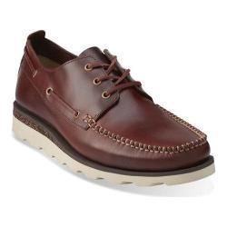 Men's Clarks Dakin Row Mahogany Leather