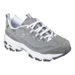 Women's Skechers D'Lites Sneaker Me Time/Gray/White