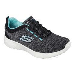 Women's Skechers Energy Burst Equinox Bungee Lace Shoe Black/Turquoise