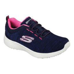Women's Skechers Energy Burst Equinox Bungee Lace Shoe Navy/Hot Pink