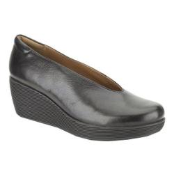 Clarks Women's Claribel Flare Black Leather