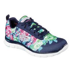 Women's Skechers Flex Appeal Training Sneaker Wildflowers/Navy/Multi