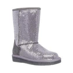 Girls' Skechers Glamslam Shine Time Boot Silver