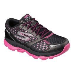 Women's Skechers GOrun Ultra 2 Climate Lace Up Shoe Black/Hot Pink