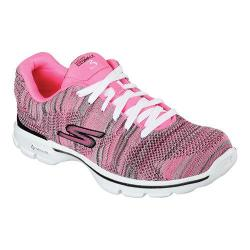 Women's Skechers GOwalk 3 Contest Sneaker Hot Pink/Black