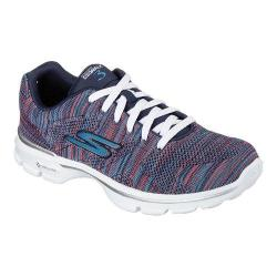 Women's Skechers GOwalk 3 Contest Sneaker Navy/Multi
