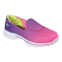 Girls' Skechers GOwalk 3 Slip On Purple/Neon Pink
