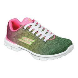 Skechers Women's GOwalk 3 Stealth Sneaker Pink/Green
