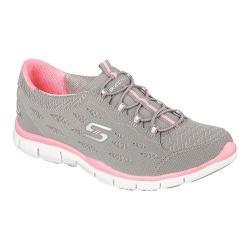 Skechers Women's Gratis Bungee Sneaker Full Circle/Gray/Pink