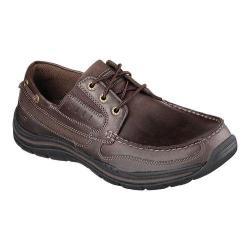 Men's Skechers Relaxed Fit Expected Gembel Dark Brown/Dark Brown