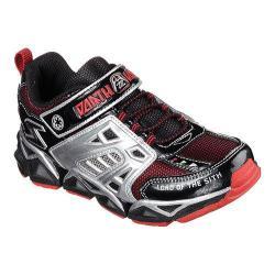 Children's Skechers Star Wars Receptor Protocol Bungee Lace Sneaker Black/Red