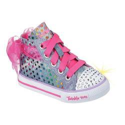 Girls' Skechers Twinkle Toes Shuffles Pixie Bunch Denim Multi