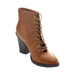 Women's Wild Diva Dominic-21 Ankle Boot Whiskey Faux Leather