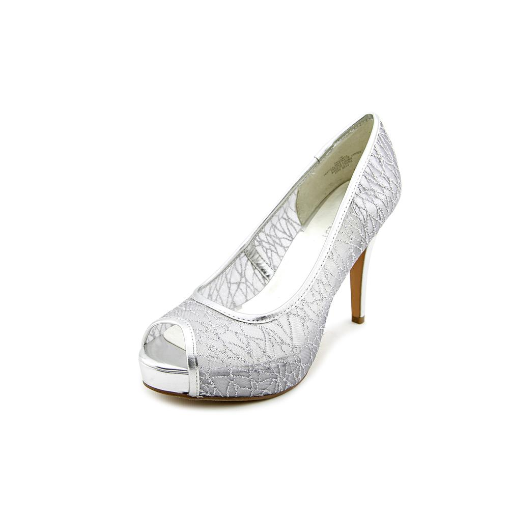 Mid Heel Silver Evening Shoes