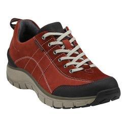 Women's Clarks Wave.Trek Walking Shoe Red Leather