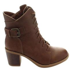 Women's Wild Diva Essence-50 Ankle Boot Brown Faux Leather