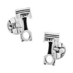 Men's Cufflinks Inc Piston Cufflinks Silver